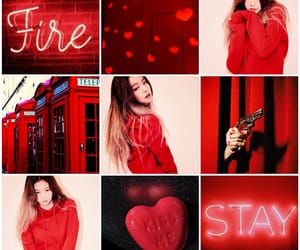 aesthetic, kim, and red image