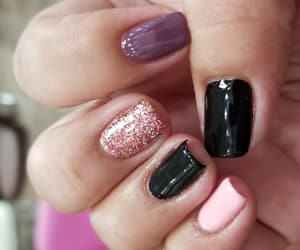 gel, nails, and pedicure image