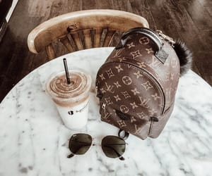 bag, coffee, and Louis Vuitton image