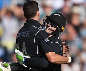 cricket, mitchell santner, and black caps image