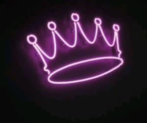 crown, aesthetic, and neon lights image