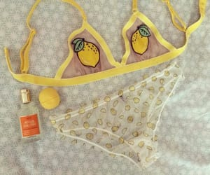 fashion, lemon, and lingerie image