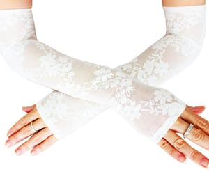 bridal, lace gloves, and bridal cuff image