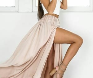 beautiful woman, fashion, and summer outfit image