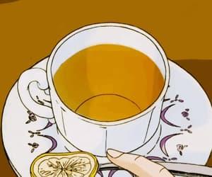 gif, tea, and anime image