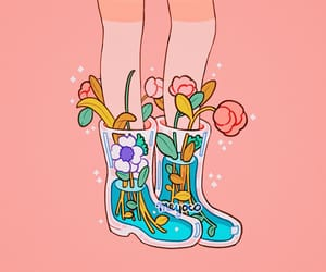 cute, flowers, and shoes image