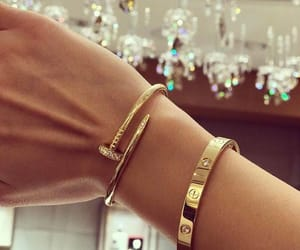 bracelet, gold, and luxury image