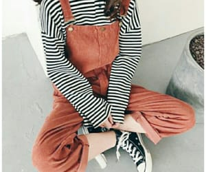 aesthetic, overalls, and ootd image