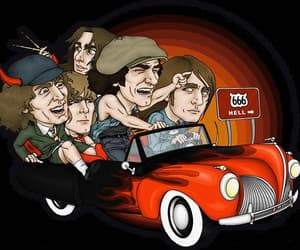 ACDC, car, and music image
