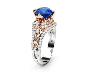 sapphire, vintage ring, and engagement ring image