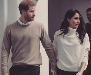 prince harry, meghan markle, and outfit image