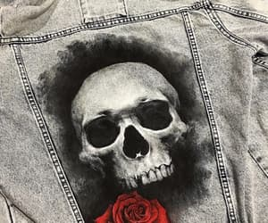 fashion, jacket, and skull image
