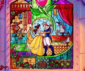 beauty and the beast, colours, and belle image