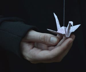 black, hand, and origami image