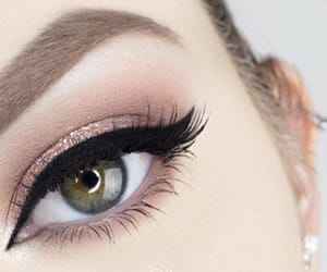 eyebrows, green eyes, and lashes image