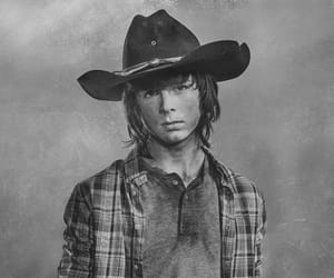 twd, carl grimes, and chandler riggs image