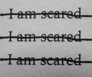Paper, scared, and i am scared image
