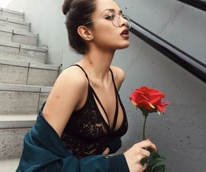 girl, fashion, and rose image