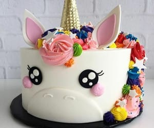 unicorn, cake, and food image