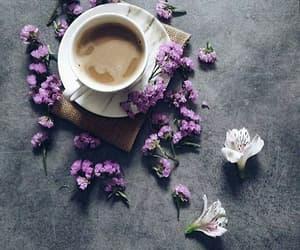flowers coffee breakfast image