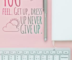quotes, typewriter, and pink image