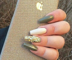 cool, green, and nails image
