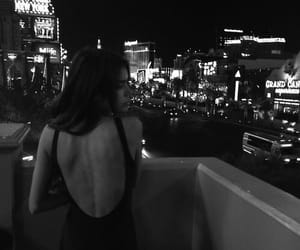 girl, night, and city image