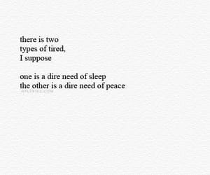 quotes, tired, and peace image