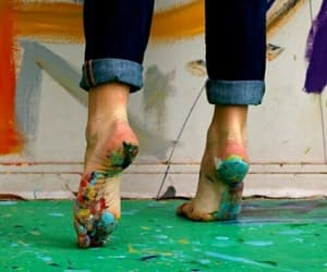 art, paint, and feet image