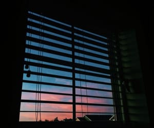 window, sunset, and sky image