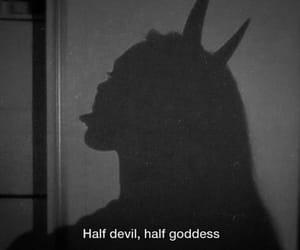 Devil, goddess, and red image