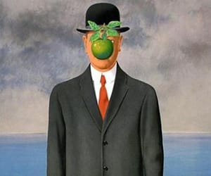 rene magritte, famous paintings, and the son of man image