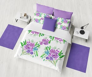etsy, guest room, and floral bedding image