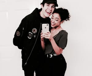 liza koshy, david dobrik, and couple image