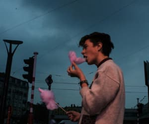 boy, pink, and candyfloss image