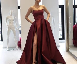 dress, heart, and long image