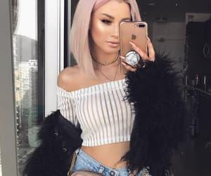 fashion, makeup, and fur image