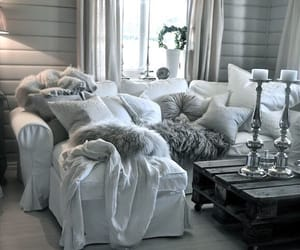 home, sofa, and cute image