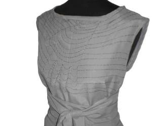 art to wear, gray dress, and summer dress image
