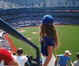 girl, baseball, and hair image
