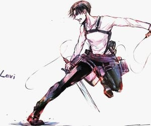levi, aot, and attack on titan image