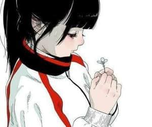 anime, flower, and anime girl image