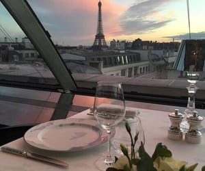paris, france, and dinner image
