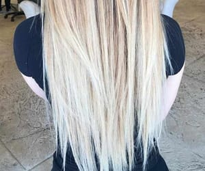 blonde, pretty, and healthy hair image