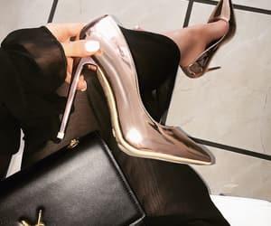heels, bag, and fashion image