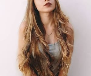 caramel, curly, and hairstyle image