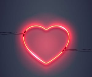 heart, background, and neon image