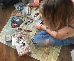 map, travel, and tattoo image