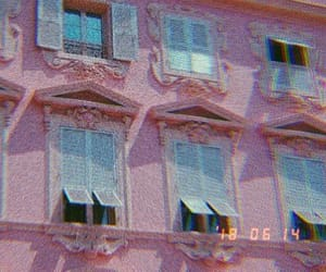 pink, house, and windows image