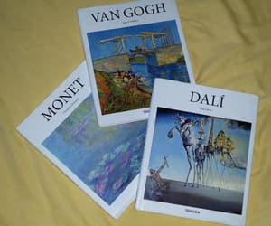 art, books, and claude monet image